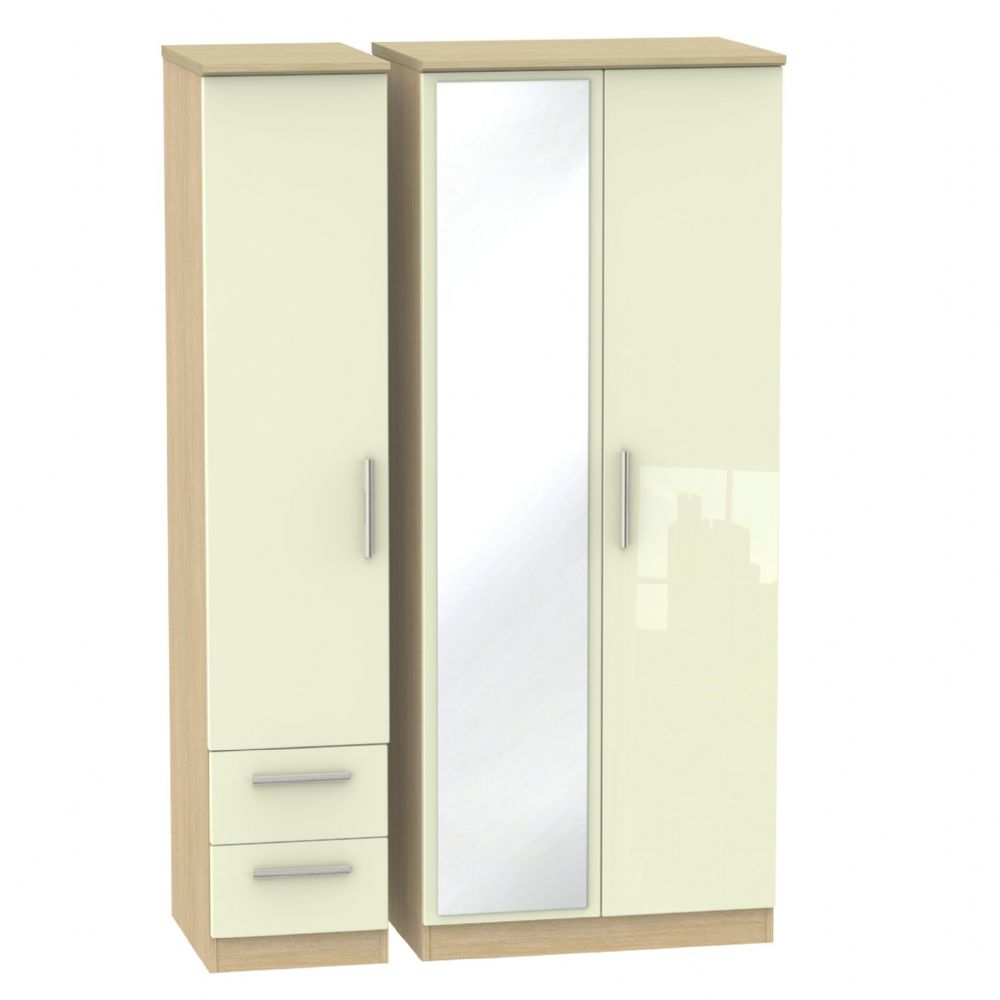Knightsbridge Triple Mirror + Drawer Robe